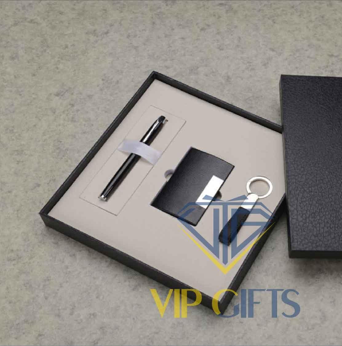 Bộ giftset Quà tặng VIP Namecard bút và móc khóa 01