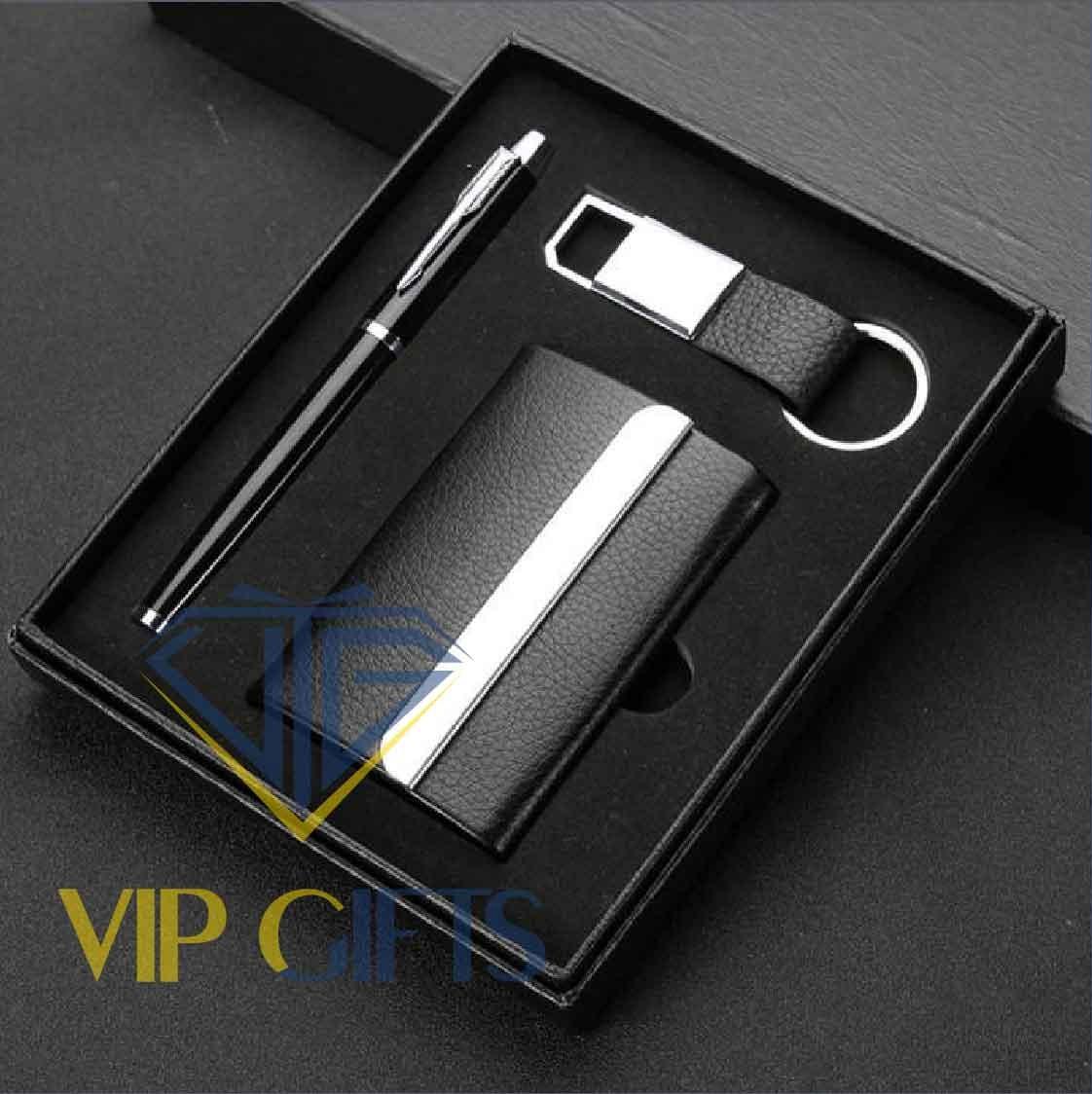 Bộ giftset Quà tặng VIP Namecard bút và móc khóa 02