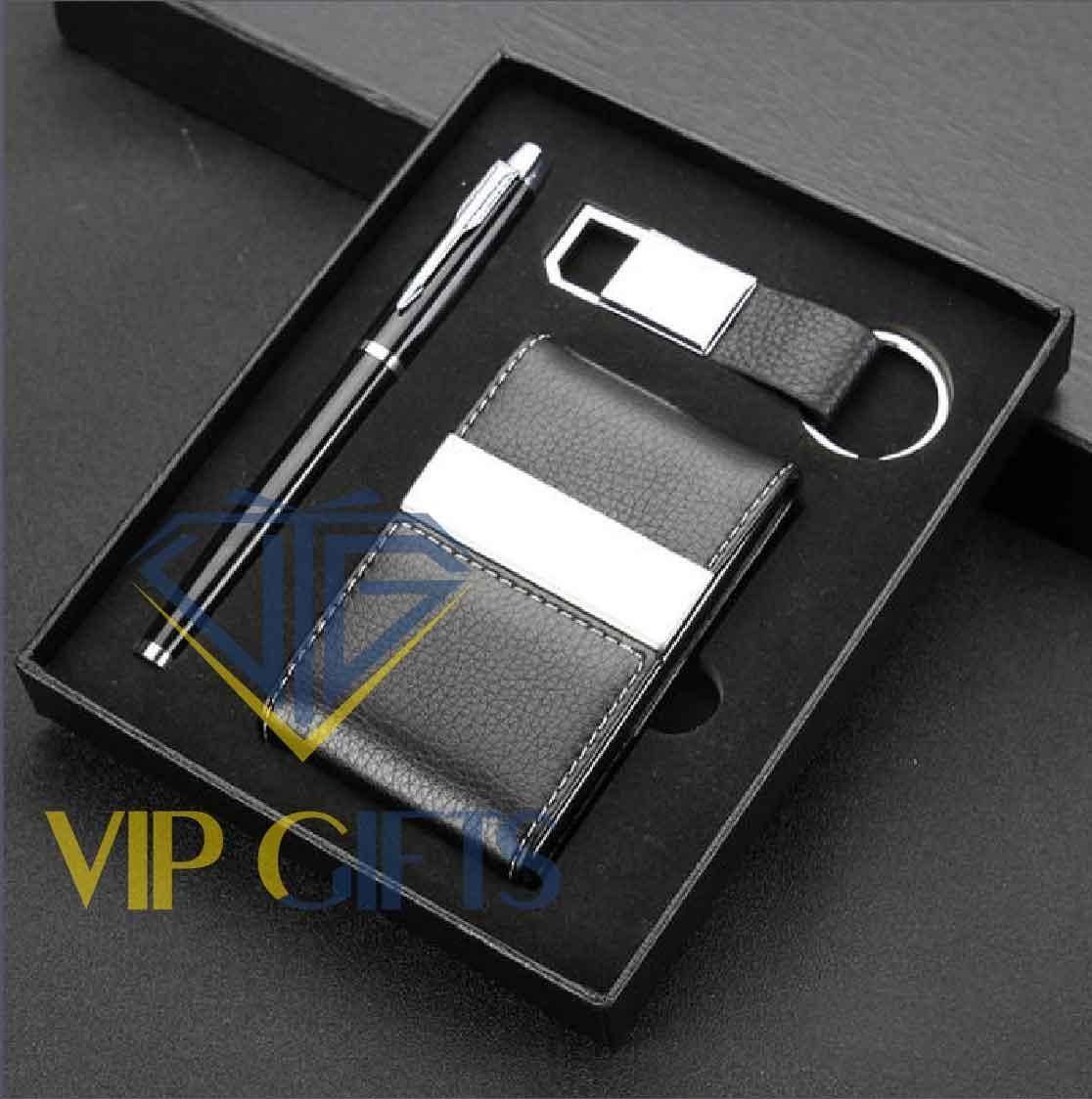 Bộ giftset Quà tặng VIP Namecard bút và móc khóa 03
