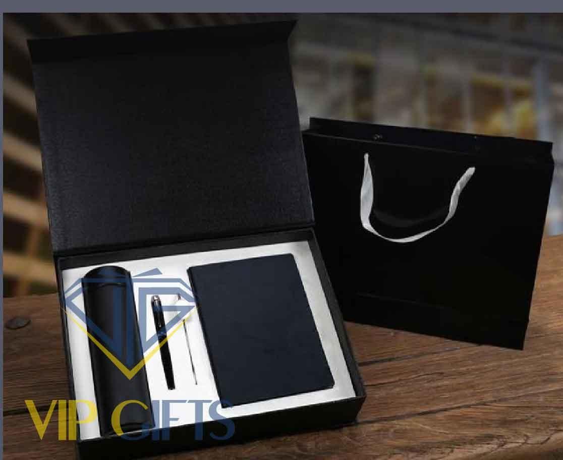 Bộ giftset Quà tặng VIP Sổ bút và bình giữ nhiệt 02