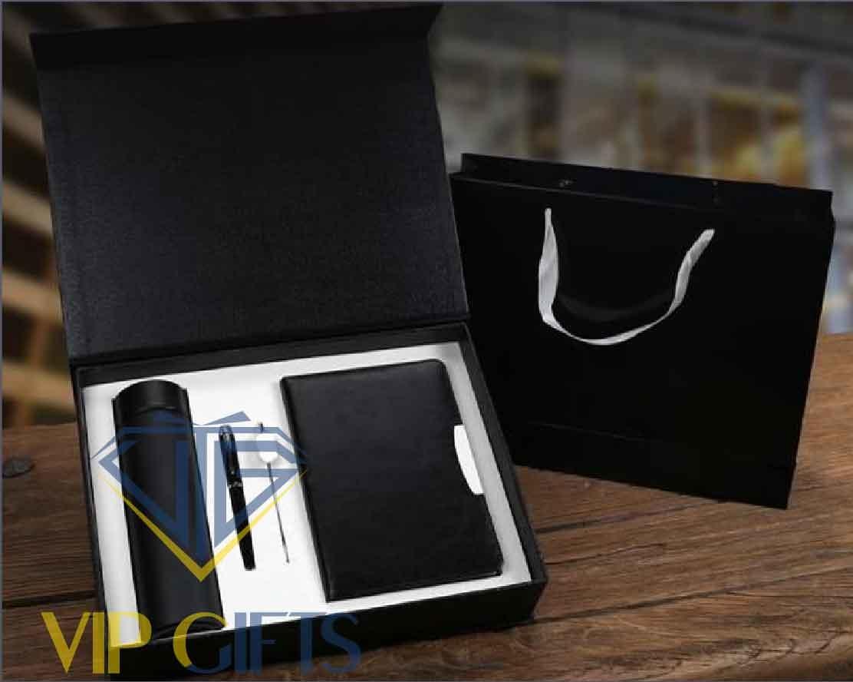 Bộ giftset Quà tặng VIP Sổ bút và bình giữ nhiệt 03