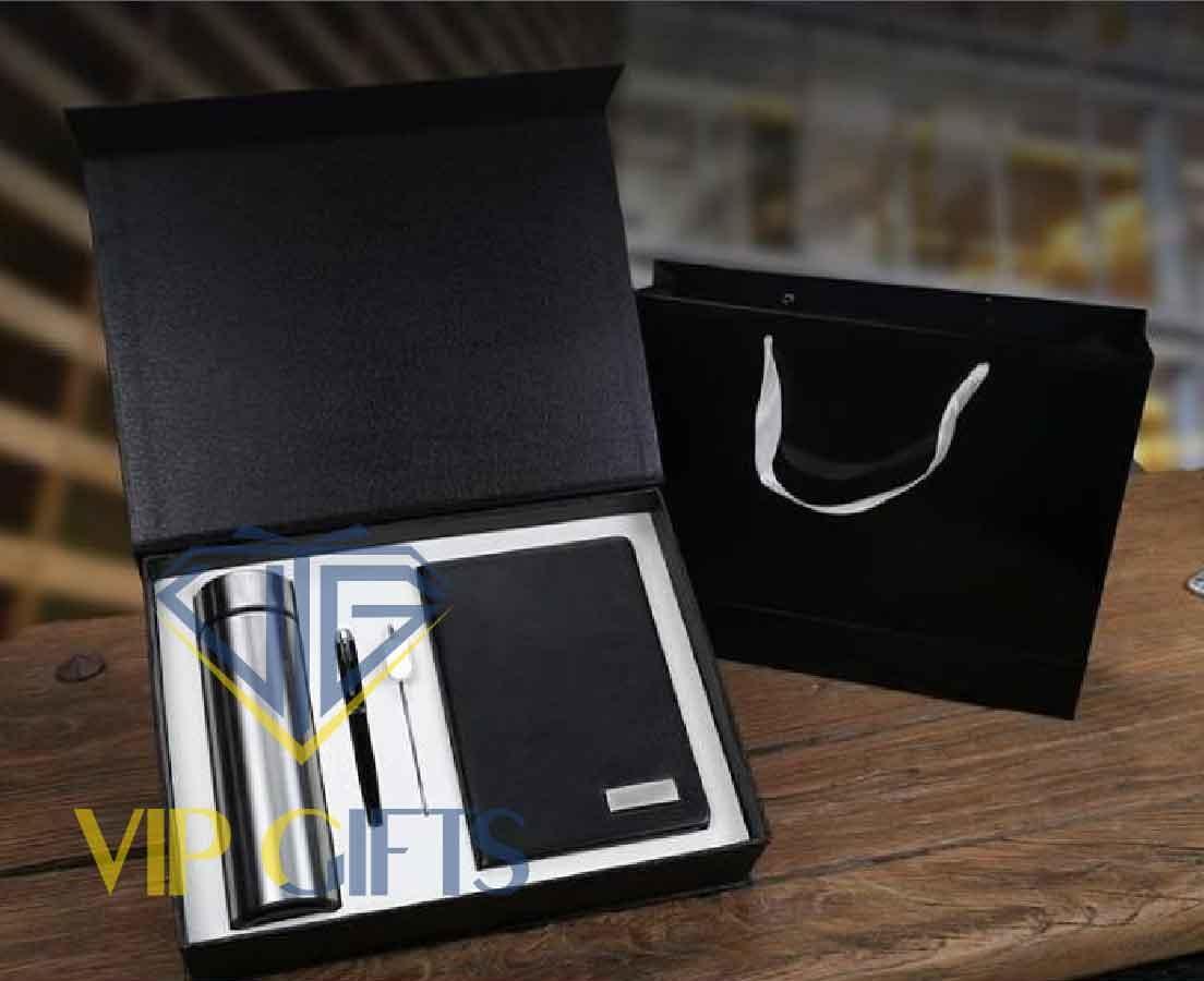 Bộ giftset Quà tặng VIP Sổ bút và bình giữ nhiệt 04