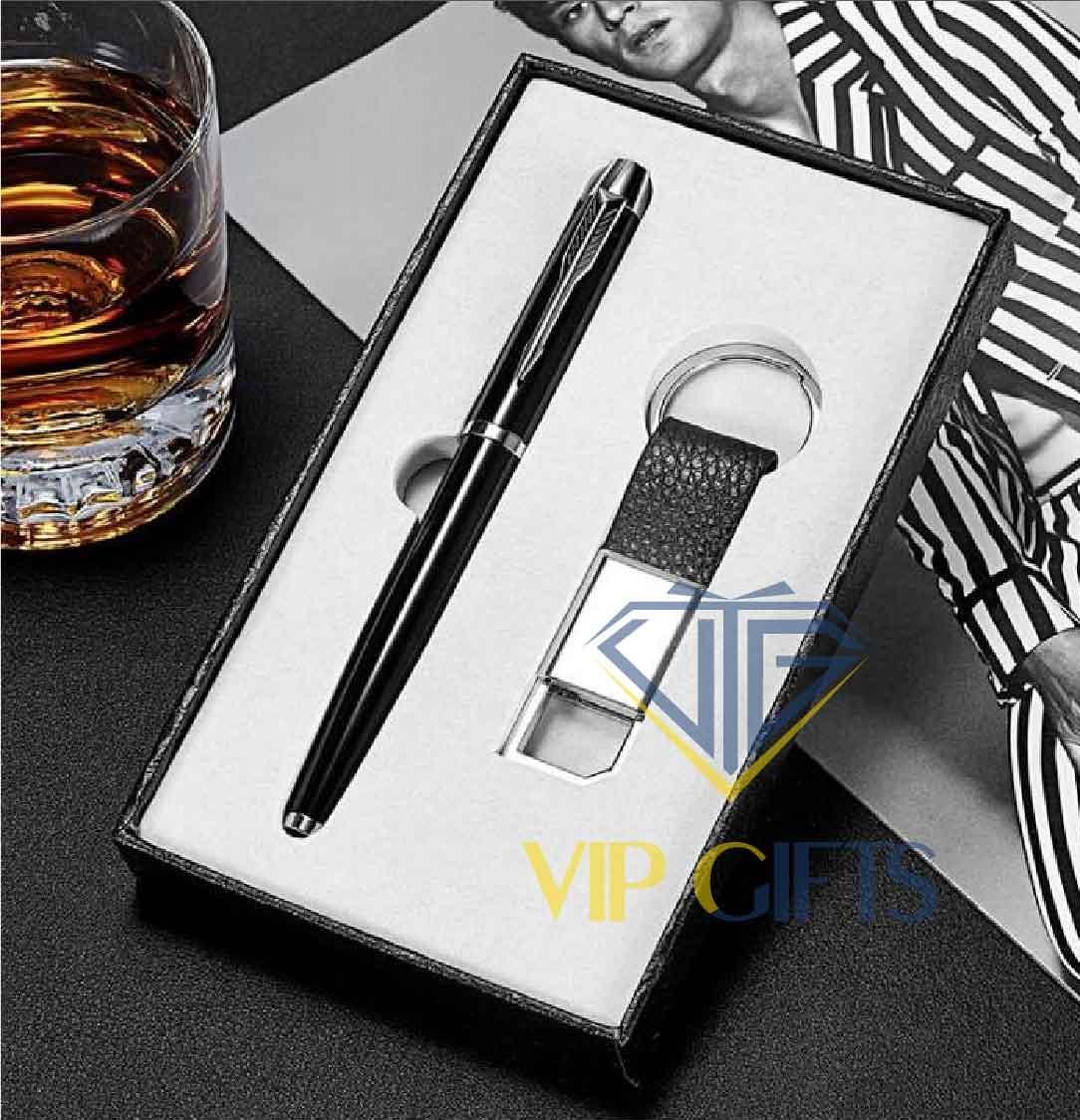 Bộ giftset Quà tặng VIP bút móc khóa 01