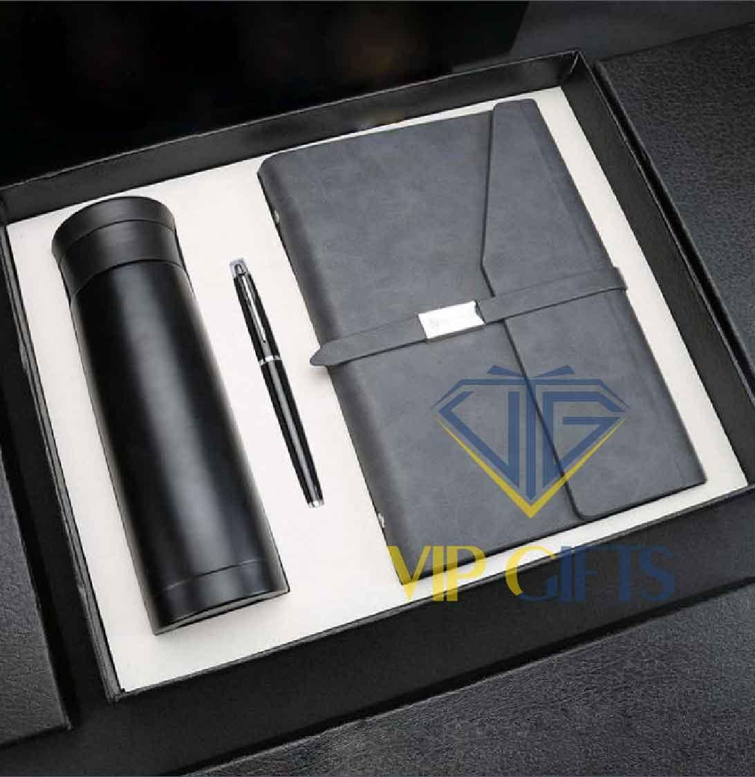 Bộ giftset Quà tặng VIPSổ bút và bình giữ nhiệt 01