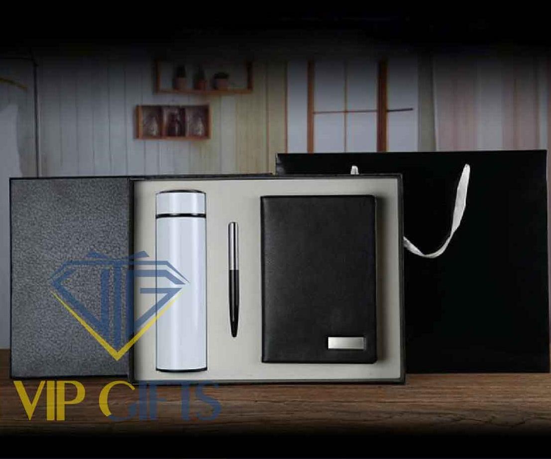 Bộ giftset Quà tặng VIPSổ bút và bình giữ nhiệt 02