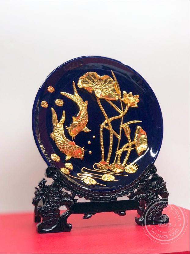 Đĩa phong thuỷ mạ vàng 2