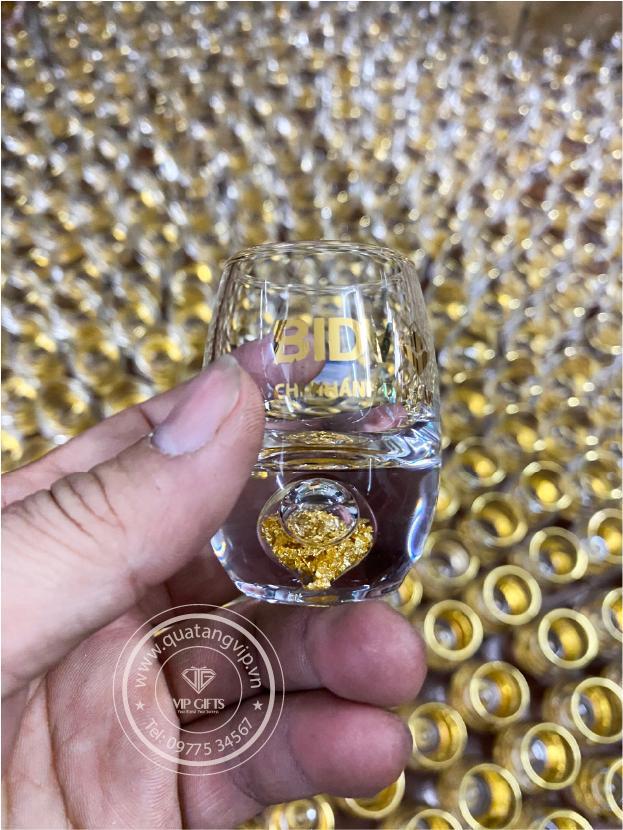 Bộ ly dát vàng 3